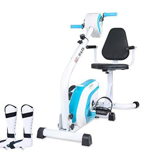 TWW El Equipo para Discapacitados Ejercita La Misma Fuerza Meridiano Manivela Sentado Ciclismo Paralizado Atrofia Ejercicio En Bicicleta,Azul