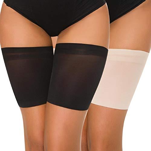 Voqeen Bande de Cuisse Femelle Anti frottement Ceinture élastique Silicone Cuisse Socks Protection Plat Solide Couleur élastique Bande Chaussettes