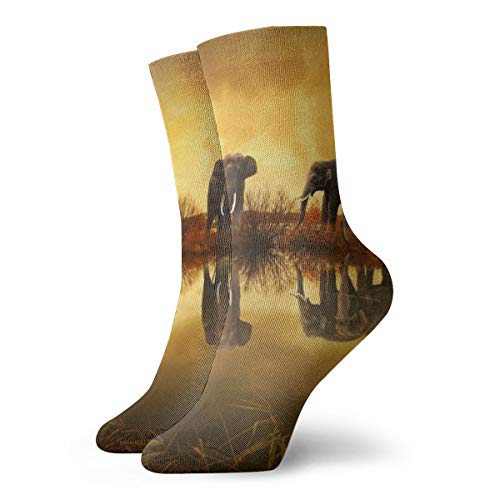 Preisvergleich Produktbild Pengyong Thailand Elefanten Casual Crew Socken Wicking Atmungsaktiv Laufen Training Sport Wandersocken für Männer und Frauen