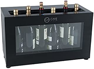 Cavevinum CV-7 Expositor de Barra para Vinos Tintos, Acero Inoxidable, Negro, 55x26x33 cm