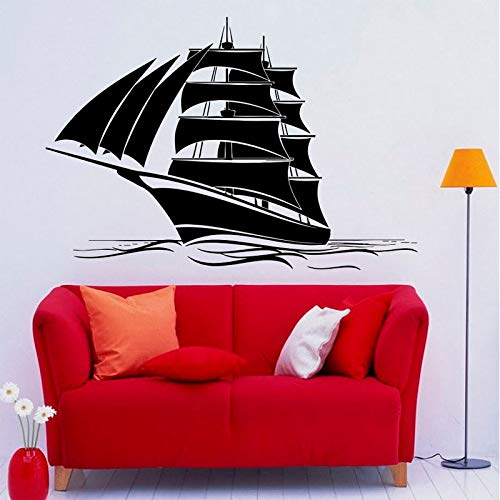 sanzangtang zeilbootstickers muur vinyl sticker familie kinderkamer nautische muurschilderingen noordoosten Oosten reizen land zeeschip