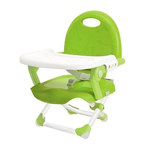 JBHURF Multifunktionale Faltbare Tragbare Baby Stuhl Einstellbare Hochstuhl Mehrzweck Feed Booster BB Hocker - Blau (Farbe : Grün, größe : Average code)