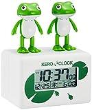 リズム(RHYTHM) 目覚まし時計 デジタル時計 ケロクロック2 ホワイト 106×82×60mm 8RDA46RH03