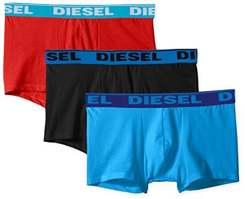 Diesel Herren UMBX-SHAWNTHREE-Pack Fresh & Bright Boxer-Shorts Badehose, Blau/Rot/Schwarz, X-Small (3er