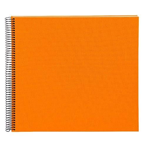Goldbuch Spiralalbum, Bella Vista, 35 x 30 cm, 40 weiße Seiten, Leinen, Orange, 25372