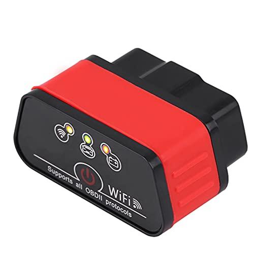 aqxreight - Escáner de automóvil, KW903 WIFI ODBII Herramienta de escáner de diagnóstico de automóvil Detección de fallas para IOS Android(negro + rojo)