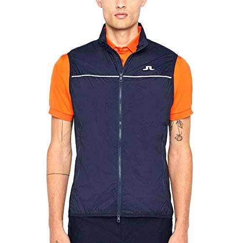 Lowest Prices! J.Lindeberg Luke Piped Stretch Wind Pro Vest JL Navy Medium