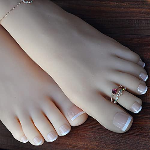 Pies de maniquí, pies de silicona para mujer, pie de maniquí de silicona, tamaño natural de silicona para mujer, maniquí de pie para mujer, con diseño de sandalias y calcetines, B,36