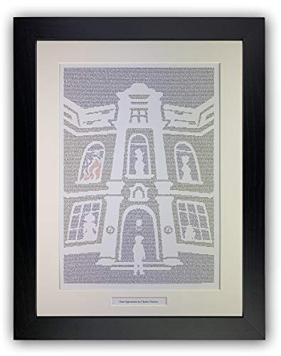 Litographs Great Expectations by Charles Dickens – Póster con texto en inglés «Great Expectations by Charles Dickens»
