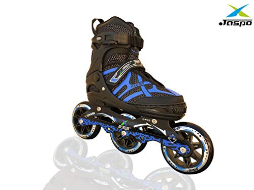 JASPO Radar Hydra-MAX Adjustable Inline Shoe Skates for All Age Groups (Blue, Small (10-13))