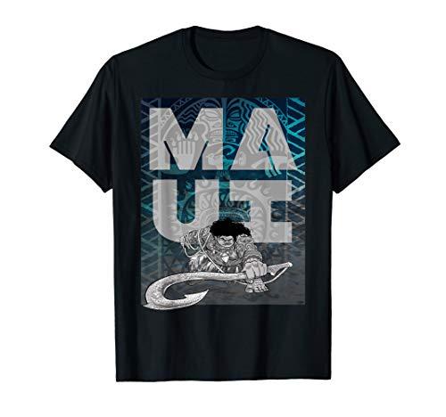 Disney Moana Maui Tattoo Style Letter Stack Portrait T-Shirt