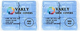 200 Vakly Non Slip Shoe Covers/Boot Covers (200 Covers 100 Pair) - Extra Thick – Durable - Water Resistant - Anti Slip