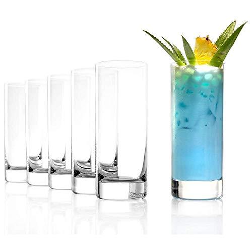 Grand verre à jus de fruits Stölzle Lausitz New York Bar de 380 ml, lot de 6 verres, compatible lave-vaisselle, en cristal sans plomb, de qualité supérieure