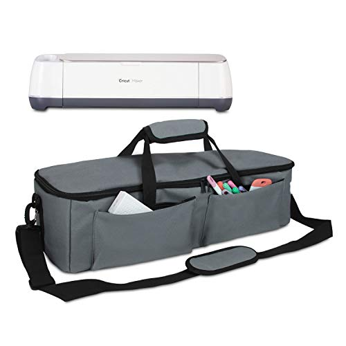 Yarwo Carrying Bag Compatible with Cricut Explore Air (Air 2), Maker, Tote Bag Travel Bag for Die Cutting Accessories and Supplies(Grey, Lightweight Style)