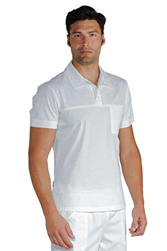 Isacco Polo Miami Stretch Bianco, Bianco, XXL, 97% Cotone 3% Spandex