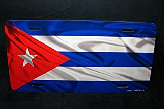 Cuba Flag Metal Car License Plate Tag Placa De Licencia De Bandera Cubana Auto Car Novelty Accessories License Plate Art