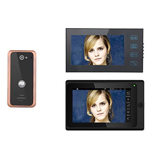 4,3 Pulgadas Pantalla TFT Digital Walkie-Talkie Cat'S Eye Peeper Camera Timbre 160 Grados de Gran Angular Infrarrojos Visión Nocturna