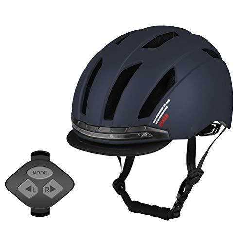 shenruifa - Casco de bicicleta con luz LED de giro urbano para...