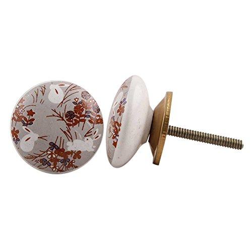 Maniglie IndianShelf 2 pezzi a mano Multicolor ceramica Rabbit Flat Dresser manopole Governo del cassetto della cucina armadio porta tira