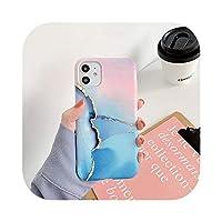 Zhiiaアートテクスチャ大理石の電話ケース For iPhone用 SE2ケース For iPhone 12 11Pro MaxX XS Max XR 7 8 プラス花崗岩ストーンバックカバー-Style 2-For iphone 12mini