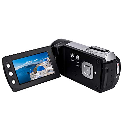 Video Camera Camcorders Digital Camera Recorder FHD 1080P 12MP 2.7 Inch 270 Degree Rotation Screen 8X Digital Zoom Video Camcorder Vlog Camera Digital Camcorder with Rechargeable Battery