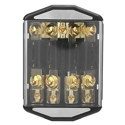 Caja de fusibles, multipropósito 1 * 0GA In 4 * 4GA out Práctico Bloque de fusibles Marino Reutilizable, para Car Marine
