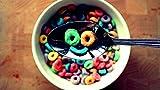 Pintura de diamante 5D Vintage smiley face sonriendo cereales desayuno colores bordado de diamantes de imitación de cristal DIY para decoración pegatinas de pared 40 * 50Cm