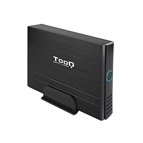 """Tooq TQE-3520B - Carcasa para Discos Duros HDD de 3.5"""", (IDE, SATA I/II/III, USB 2.0), Aluminio con Soporte de plastico, indicador LED, Color Negro, 350 grs."""