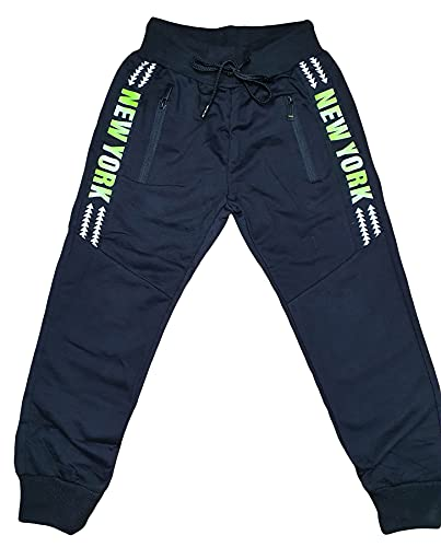 Generic Kinder Jungen Jogginghose Sporthose Trainingshose Freizeit Hose Jogger (Newyork - Grün, 140)
