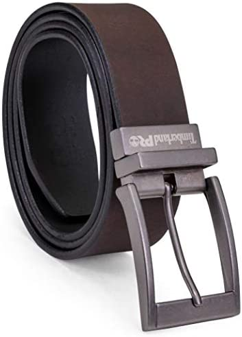 Timberland PRO Men s Big and Tall 38mm Harness Roller Reversible Leather Belt brown black 46 product image