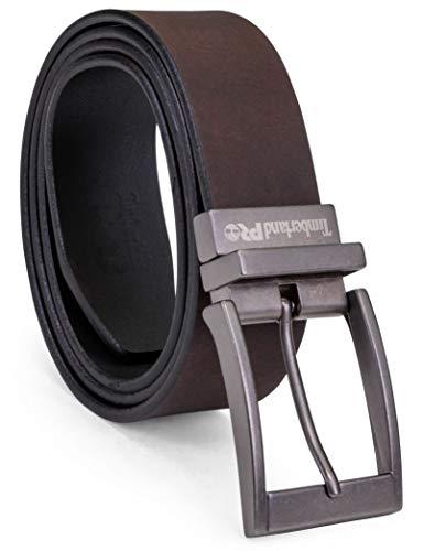 Timberland PRO Men's 38mm Harness Roller Reversible Leather Belt, Brown/Black, 42