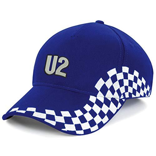 caprica91 U2 Rockband Bestickte Logo Baseball Cap Mütze — 1166VIP — Blau