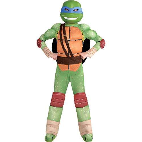 Amscan Teenage Mutant Ninja Turtles Leonardo Muscle Halloween Costume for Boys, Small, with Included Accessories