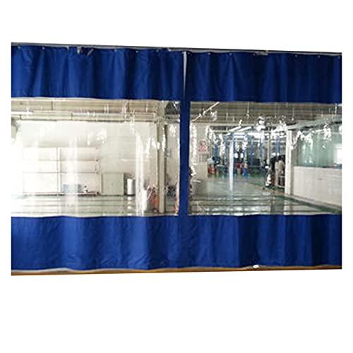 AWSAD Cortina de Lona Transparente Al Aire Libre,0.5 Mm Impermeable Cortina Lona de Vinilo,Panel Lateral for Pérgola Pavilion Garden Porche de Garaje (Size : 7.5x3m)