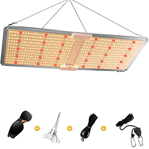 IKER Grow Light Use with Samsung LM281B 606pcs LEDs, PB-2000 Dimmable Grow Light Daisy Chain Full Spectrum Light for Indoor Plants from Seedling to Harvest Veg and Flowering Growing Lamp Fixtures