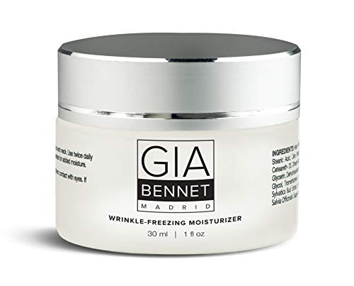 41v2ILOMDrL - GIA BENNET Premium Wrinkle Freezing Moisturizer for Firm Skin Structure, Day and Night Ultimate Luxury Revitalizing Cream- Age Defying Spa, 1oz / 30ml