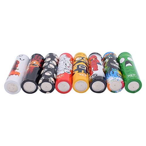50 PCS 18650 Batterie Sleeves Wraps Pre Cut Cartoon Series Battery Protective Wraps Cover, Sleeves Heat Shrink PVC Tubing Tubes Shrink Film 5 Styles Replacement Cover Skin