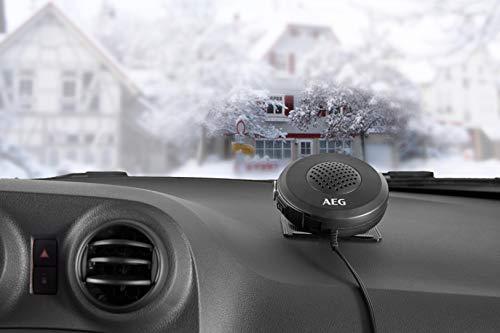 AEG Automotive 10653 Auto Scheibenenteiser mit Lüfter, Heizlüfter warm/kalt, 150 Watt, mit 12 V Kfz-Anschluss, Standfuss und Haltegriff