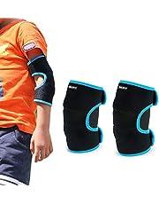 EULANT Acolchada Coderas para Niños, Ajustable Protector Codo para Baile Fútbol Voleibol Baloncesto Ciclismo Patinetes Skateboarding