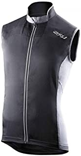 2XU Mens Elite Vapor Mesh Cycle Vest, Medium, Black/Charcoal