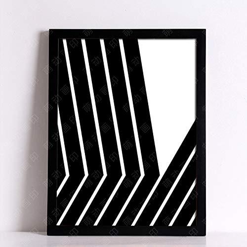 yaoxingfu Kein Rahmen Wandbilder leinwand ng schwarz schönheit Kreis Poster und drucke wandbilder für Wohnzimmer Nordic Dekoration kein Rahmen 60x90cm