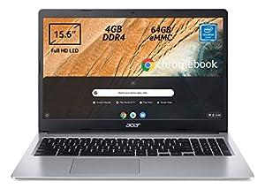"immagine di Acer Chromebook 315 CB315-3H-C7JF Notebook, Pc Portatile con Processore Intel Celeron N4000, Ram 4GB DDR4, eMMC 64 GB, Display 15,6"" Full HD LED LCD,Scheda Grafica Intel UHD 600, Google Chrome,Silver"