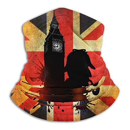 Beauty-Design Polaina unisex multifuncional para el cuello, diadema, bandana para la cara, máscara para el cuello, pasamontañas para motociclismo, monopatín, protección UV, Sherlock Holmes en Londres