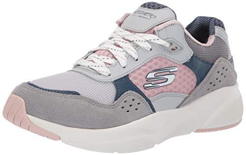 Skechers Women's MERIDIAN-CHARTED Trainers, Grey (Grey Pink Gypk), 4 (37 EU)