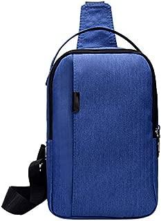 TOOGOO Nylon Chest Bag Men'S Bag Messenger Bag Multi-Function Messenger Fashion Outdoor Chest Bag Blue