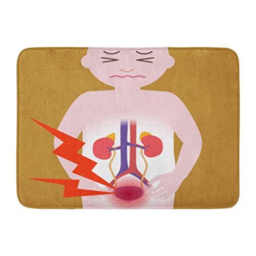 LIS HOME Badteppich Neurogene Überaktive Entzündung Die Blase Menschliche Harnorgane Herz Nieren Blasenentzündung Schmerz Badezimmer Dekor Teppich