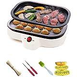 ZHIRCEKE 20 Agujeros Pulpo Bolas Máquina Pequeño Takoyaki Maker BBQ Grill Mini Filete Freying Placas Placas de Hornear Pulpo eléctrico Máquina de Bolas.