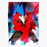 Amelius Melee Falco Poster Red, Beeindruckende Poster für