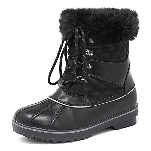 DREAM PAIRS Women's River_2 Black Mid Calf Winter Snow Boots Size 9 M US
