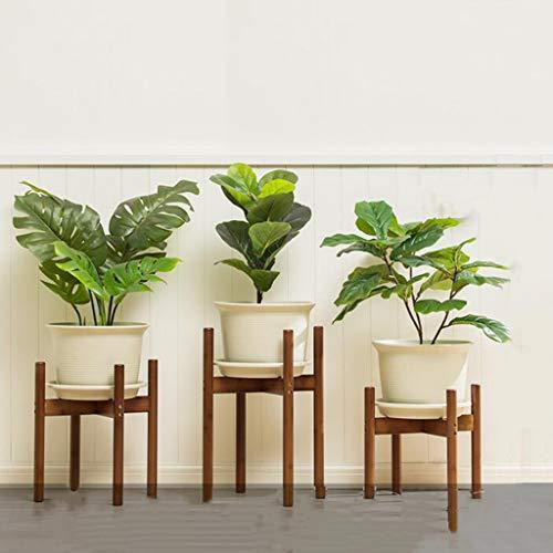 CHLDDHC Soporte De Planta para Maceta De Grano De Madera Natural Adecuado para Rack De Decoración De Flores En Interiores Y Exteriores (Juego De 3)